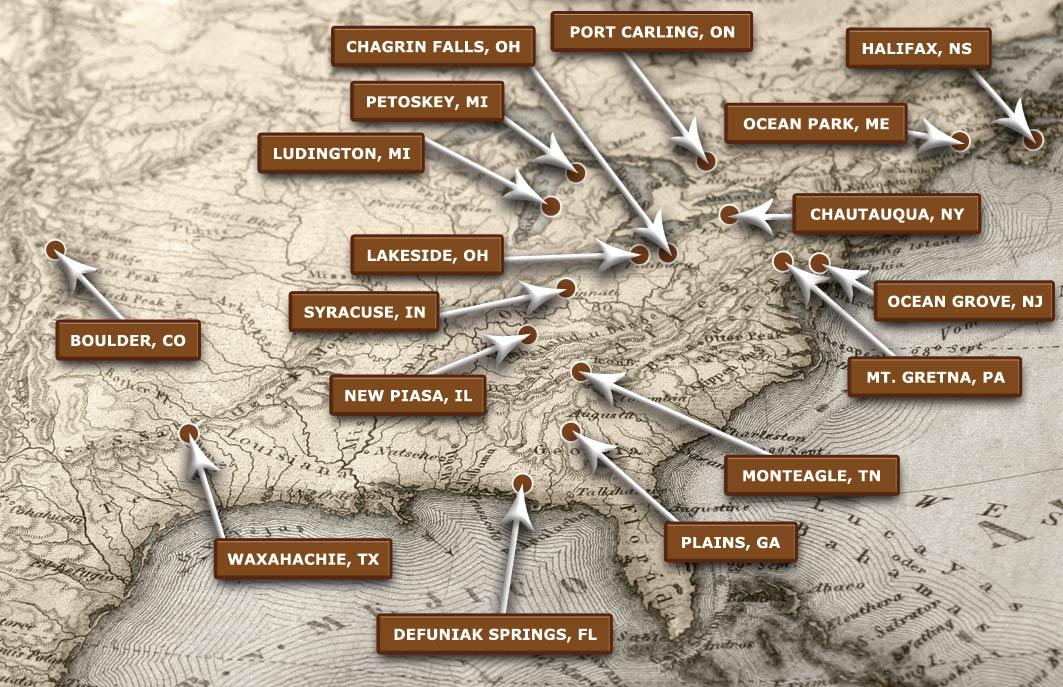 Chautauqua Trail Locations Map